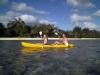 Double kayaks on Rarotonga, Adventure Cook Islands