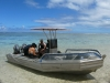Our dive boat in Rarotonga's lagoon