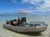 Our dive boat in Rarotonga's lagoon