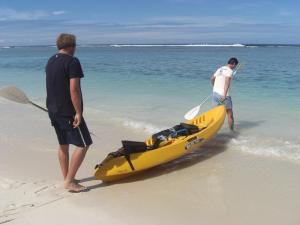 Kayaking in the Cook Islands
