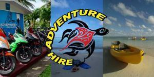 Adventure Hire Rarotonga rents scooters, bicycles, kayak and snorkel gear
