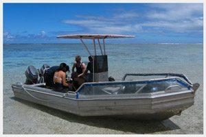 Adventure Cook Islands dive boat in Rarotonga,