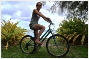 Comfort bicycles for hire in Rarotonga, Cook Islands
