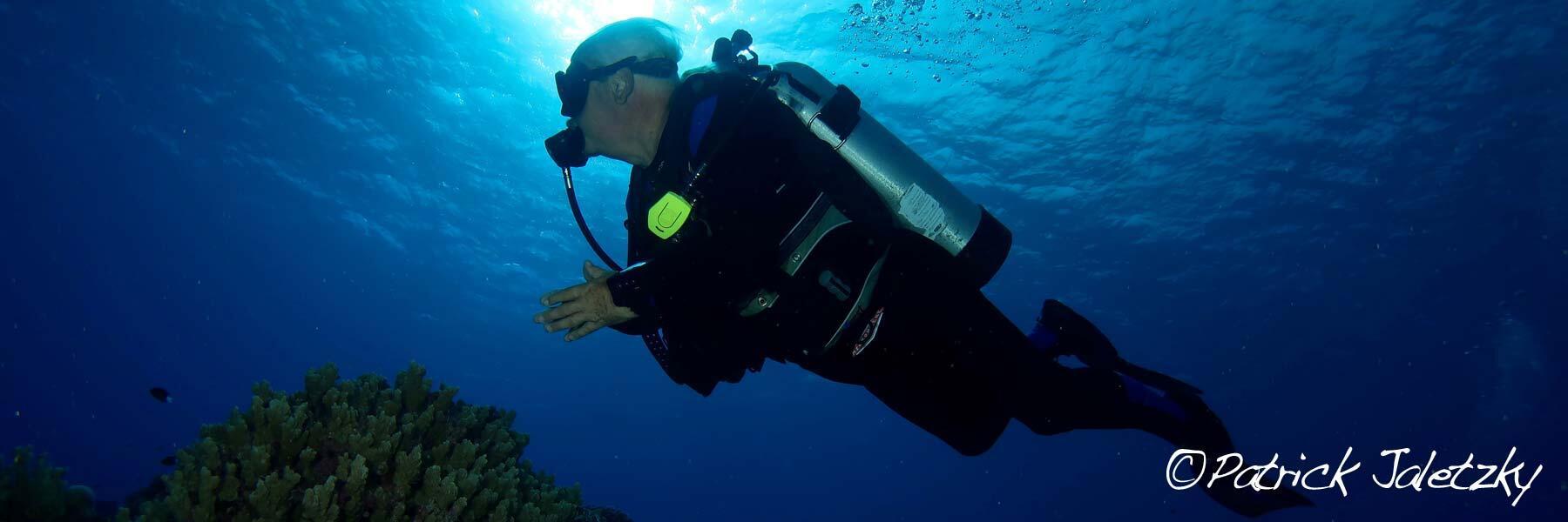 Scuba diver in Rarotonga, Cook Islands