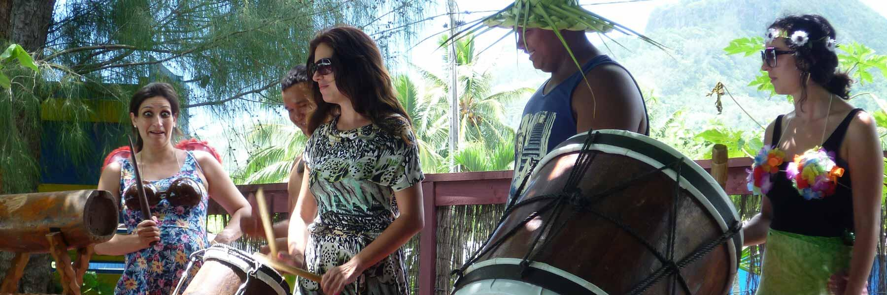 Cook Islands dance and drum lessons in Rarotonga