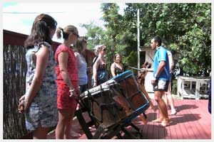 Cook Islands drumming lesson in Rarotonga