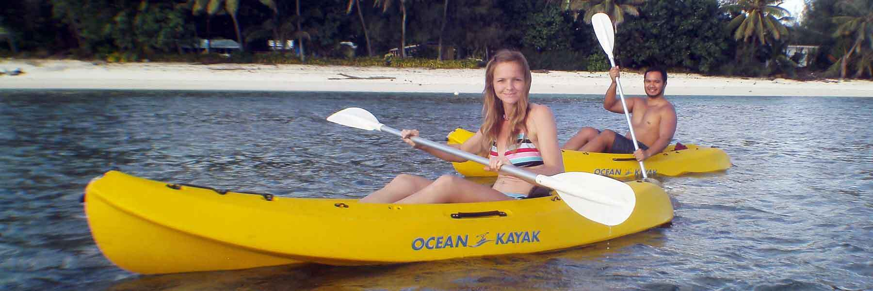 Kayaks for hire in Rarotonga