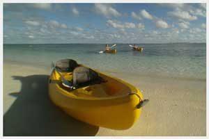 Kayaks for rent in Rarotonga, Cook Islands