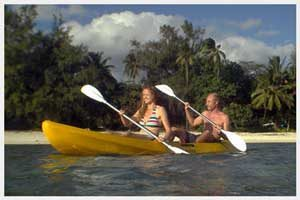 Kayaks for hire in Rarotonga, Cook Islands