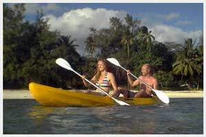 Kayaks for hire in Rarotonga, Cook Islands