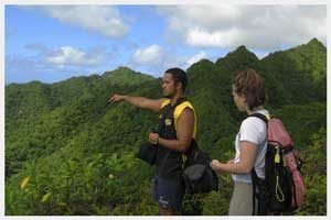 Mountain trek in Rarotonga