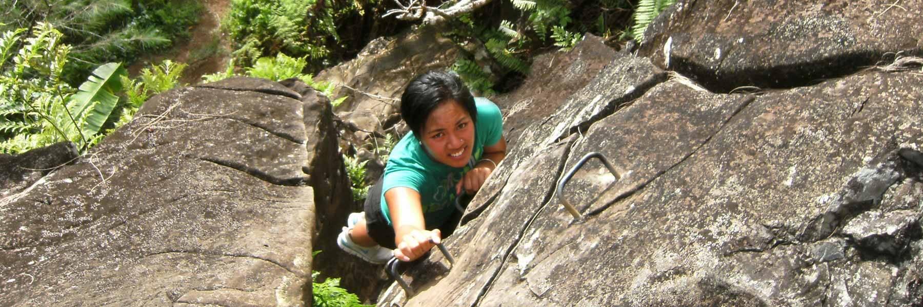 Climb to top of Raemaru mountain in Rarotonga