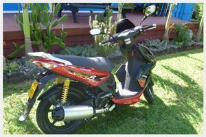 Rental scooter on Rarotonga, Cook Islands